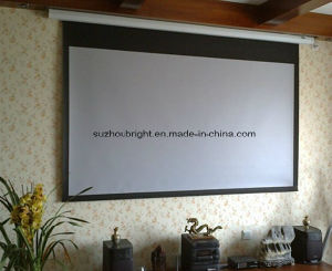 80 Inch 84 Inch Electric Projection Screen Projector Screen pictures & photos