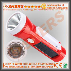 Solar 1W LED Flashlight for Hunting with Reading Lamp (SH-1908A) pictures & photos