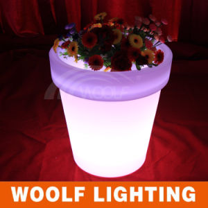 Home Garden Plastic LED Lighting Flower Planters pictures & photos