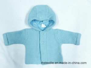 Baby Boys Lined Hooede Cardigan pictures & photos