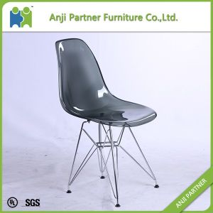 White Transparent PP Plastic Dining Chair with Metal Frame Feet (Lingling-K) pictures & photos