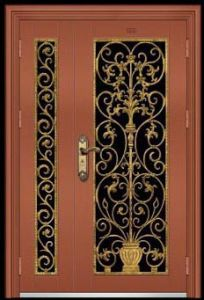 Stainless Steel Rose Golden Gate Door (XY-7019)