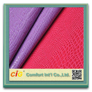 Synthetic Leather for Handbag Shiny Faux Leather pictures & photos