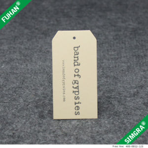 Custom Matt Lamination Hang Tag for Clothing pictures & photos