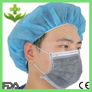Hubei MEK Wuhan Xiantao Nonwoven Dust Mask Fabric FDA CE ISO Cetificate Industrial SMS OEM Design Black 4 Ply Disposable Carbon Face Mask with Earloop pictures & photos