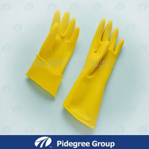 Work Latex Gloves with 11mil pictures & photos