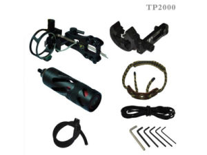 Compound Bow Accessories with Bow Sight, Stabilizer, Arrow Rest, Peep Sight, Braided Bow Sling, D-Loop