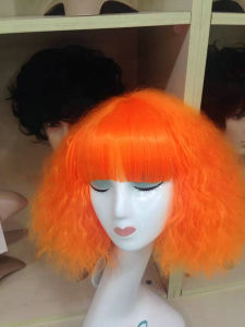 Colorful Full Machine Made Synthetic Wigs pictures & photos
