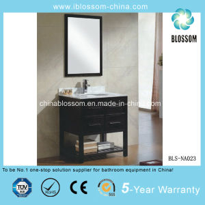 Luxury Home Hotel Bathroom Vanity Furniture MDF Freestanding Cabinet (BLS-NA023) pictures & photos