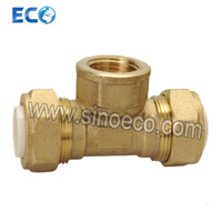 PP-R Brass Tee Female Pipe Fitting pictures & photos