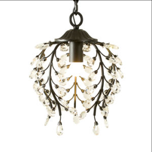 Hotel restaurant Mini Candle Metal Crystal Ceiling Chandelier Lamp Lighting in Black / Bronze Color pictures & photos