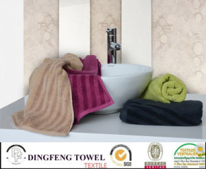 Hot Selling Solid Color Satin Series Plain Weaving 100% Bamboo Towels for Bath pictures & photos