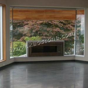 Honed Lava Basalt Black Honed Floor Tiles pictures & photos