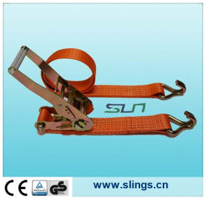 2017 China Made Polyester Lifting Sling with Double J Hook pictures & photos