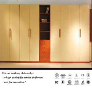White High Glossy UV Open Door Wardrobe (FY897) pictures & photos