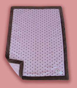 Polyester Printed Embossed Baby Blanket with Border - DOT Printing -Embroidery (HR01BB004) pictures & photos