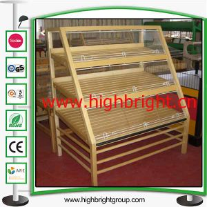 Single Sided Wood Tiered Bakery Display Rack pictures & photos