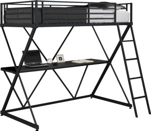 Steel Loft Bunk Bed/Full Metal Loft Bed Over Workstation Desk pictures & photos