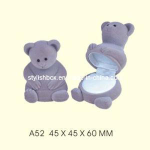 Cute Bear Shape Velvet Jewelry Box for Ring (A52)