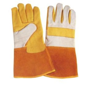 Cow Leather Work Glove for Welding pictures & photos