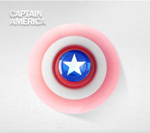 2017 New Designs of Captain America Three Leaves Fidget Spinner pictures & photos