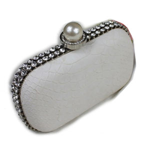 Elegant Lady Pearl & Diamond Decorated Evening Bag (105249) pictures & photos