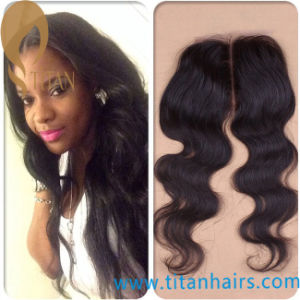 Brazilian\Peruvian Remy Hair Piece Milky Way 4*4 Lace Closure pictures & photos