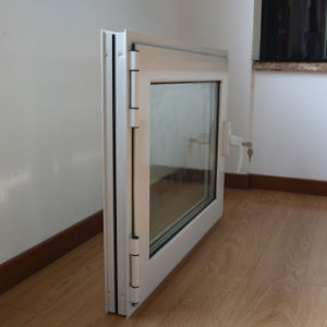High Quality White Colour Powder Coated Aluminum Profile Casement Window with Multi Lock K03007 pictures & photos