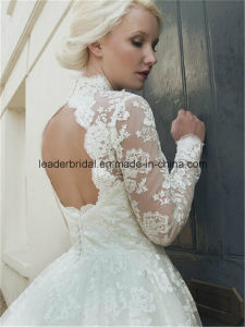 High Neck Wedding Bridal Dresses Lace Knee-Length Ball Gowns Z2078 pictures & photos