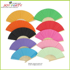 Solid Color Paper Hand Fan Folk Arts Decorative Gift pictures & photos