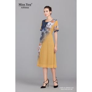 Miss You Ailinna 801829 New Design Women Cool Light Dress with Lining pictures & photos