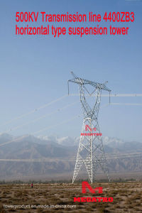 Megatro 500kv Transmission Line 4400zb3 Horizontal Type Suspension Tower pictures & photos