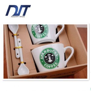 Korean Style Coffee Cup Set Ceramic Couple Cup Custom Logo pictures & photos
