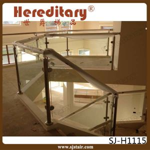 Stainless Steel Glass Balustrade with Handrail for Staircase (SJ-S090) pictures & photos