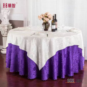 100% Polyester Jacquard Round Tablecloth pictures & photos