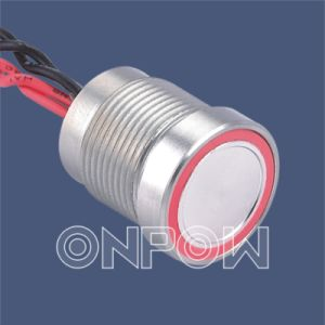Onpow Piezo Electronic Switch with Light (PS165P10YNT1R24, 16mm, CE, RoHS) pictures & photos