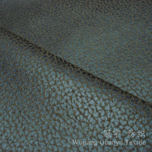 Bronzing Suede 100% Polyester Nubuck Leather Fabric for Home pictures & photos