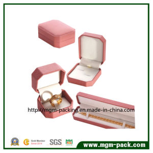 Octagonal Shape Plastic Jewelry Box with Leatherette Paper pictures & photos