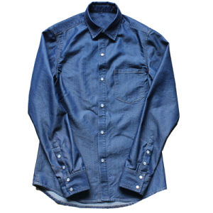 Men′s Denim Long Sleeve Shirt (XDL15067)