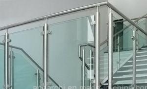 Modern Design Tempered Curved Glass Stair Railing/Balustrade For America