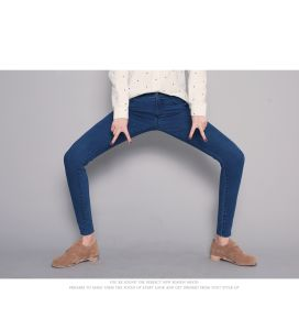 2017 Fashion Women′s Denim Stretch Cotton Jeans pictures & photos