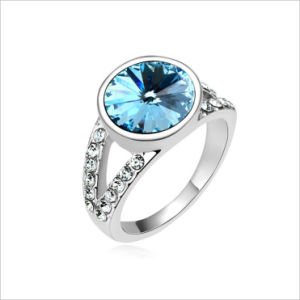 VAGULA Rhinestone Rhodium Plated Crystal Ring pictures & photos