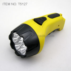 LED Rechargeable Flashlight (T5127) pictures & photos