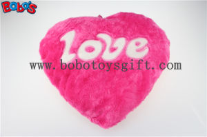 Pillow Case Plush Stuffed Hot Pink Heart Soft Cushion with Love Words pictures & photos