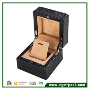 High Quality Alligator Grain Wooden LED Jewelry Box pictures & photos