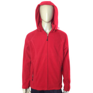 Professional Customized Men′s Polyester Polar Fleece Jacket pictures & photos