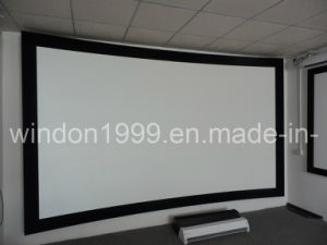Curved Projection Screen/Curved Fixed Frame Projector Screen (CS133) pictures & photos