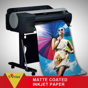 128GSM Matte Coated Inkjet Plotter Photo Paper Roll, Waterproof Printing Photo Paper pictures & photos