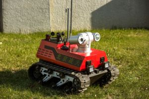 HD Surveillance Camera Equipped Fire Reconnaissance Robot pictures & photos