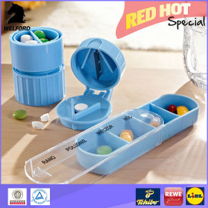 Drawer Weekly Hot Selling LFGB Pill Box Pill Dispenser Pill Cutter
